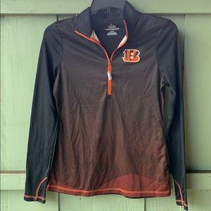 Cincinnati Bengals men's quarter zip pullover
